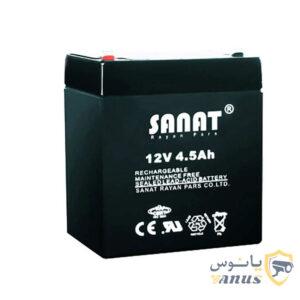 باتری دزدگیر 12 ولت 4.5 آمپر sanat