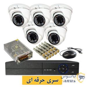 پک دوربین مداربسته 8 کانال AHD مدل(DH-415)